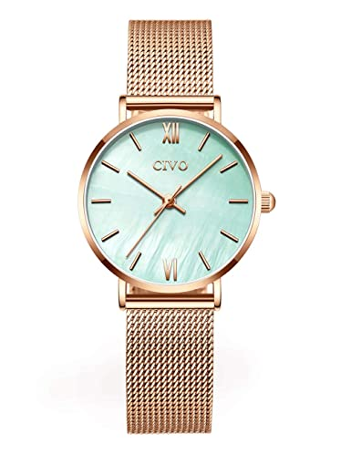 03d4417ef537 CIVO Relojes Mujer Ultra Fino Silm Minimalista Reloj de Señoras Impermeable  Moda Vestir Elegante Relojes de