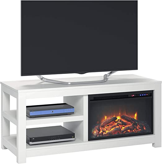 Amazon Com Parsons Electric Fireplace Tv Stand For Tvs Up To 55