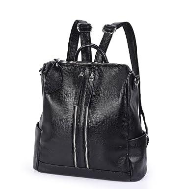 prezzo ragionevole dove comprare fashion design VBIGER Zaino Nero e Borse a Tracolla per Donna in Pelle con Grande Capacità