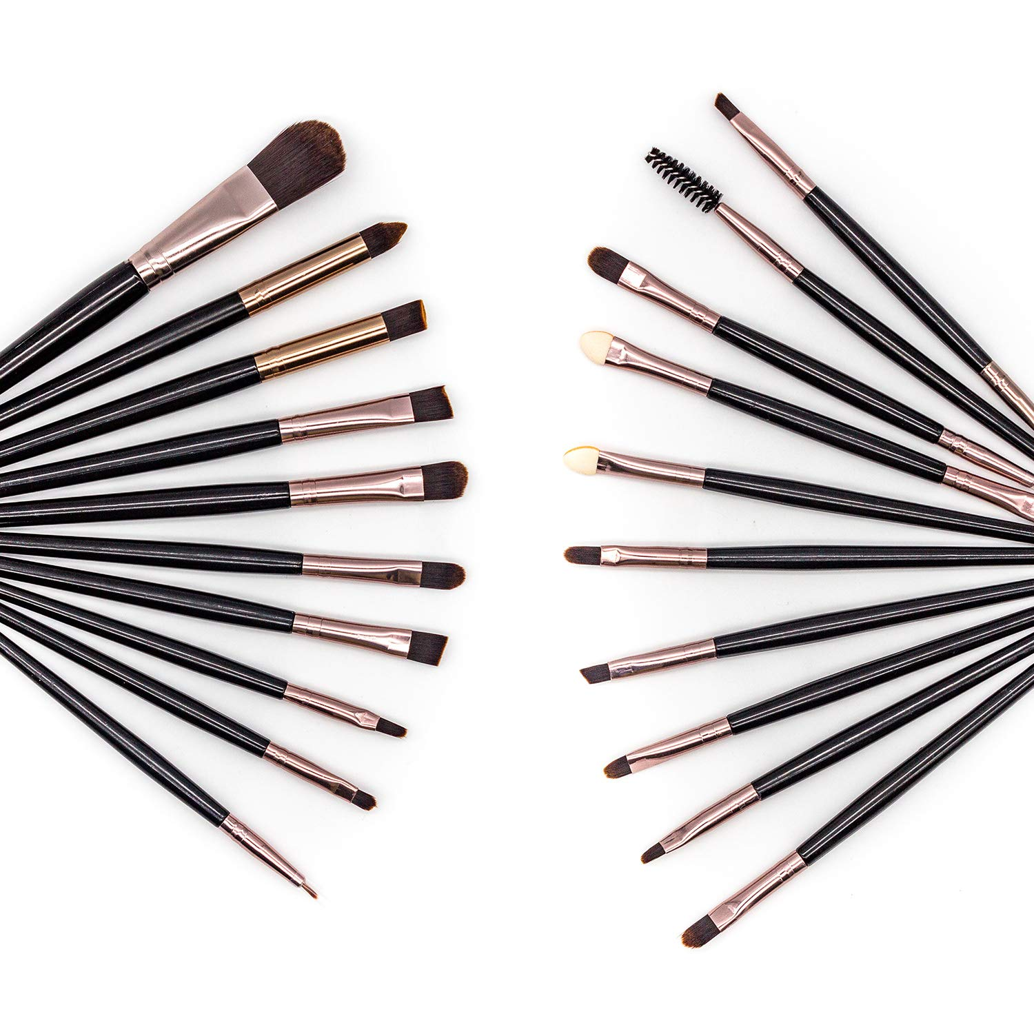 VARWANEO 20 eye shadow brushes, multi-purpose foundation brush, eyeliner brush and eyebrow brush