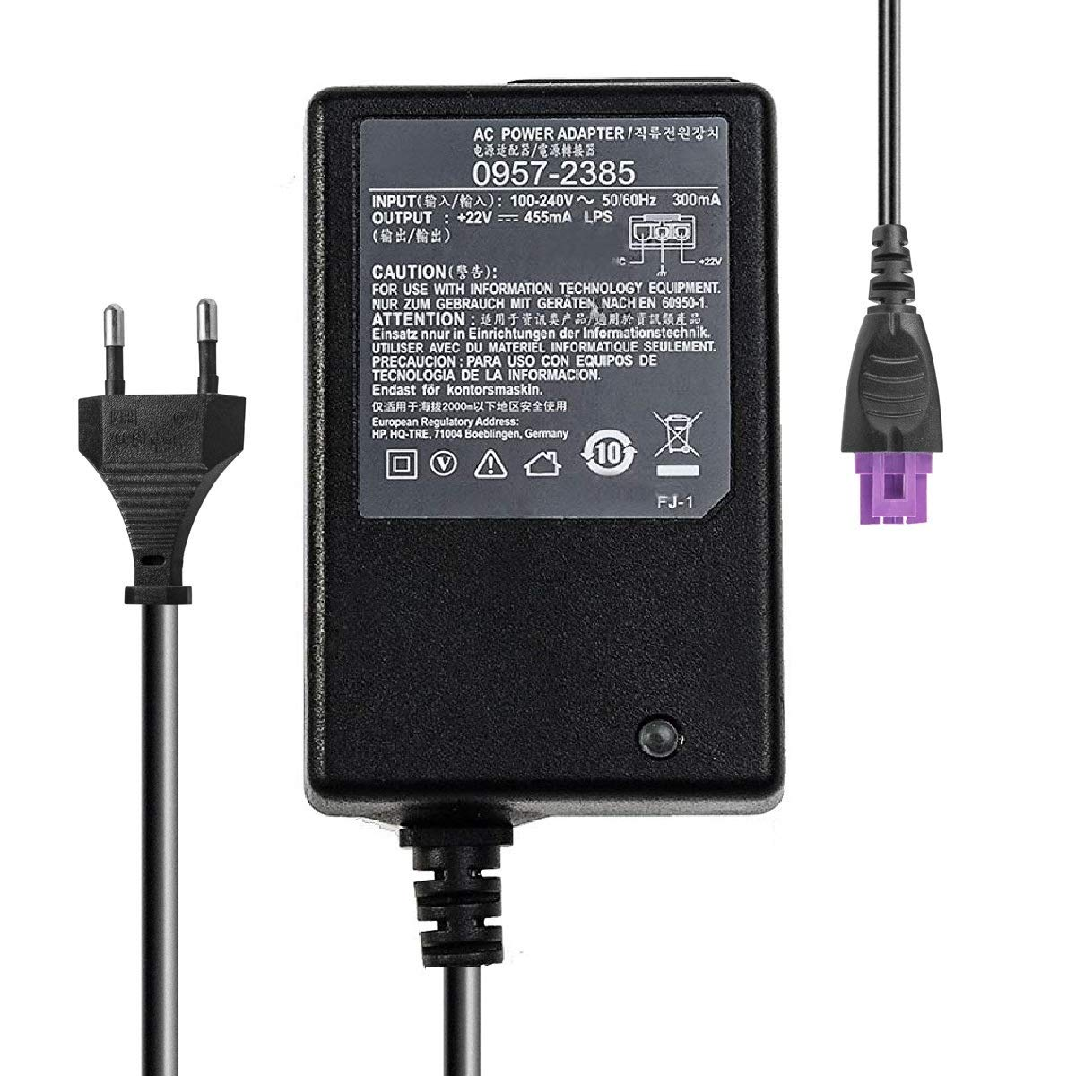 Adaptador de Corriente Compatible con HP Photosmart HP 1518 ...
