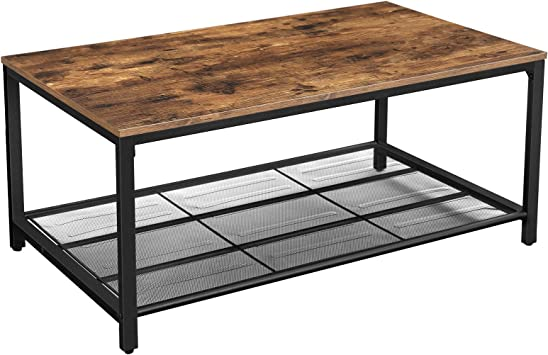 Amazon Com Vasagle Indestic Coffee Table Living Room Table With