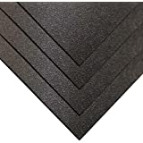 """Online Plastic Supply ABS Sheet 1/16"""" x 12"""" x 12"""" - Black, Haircell Textured (4 Pack)"""