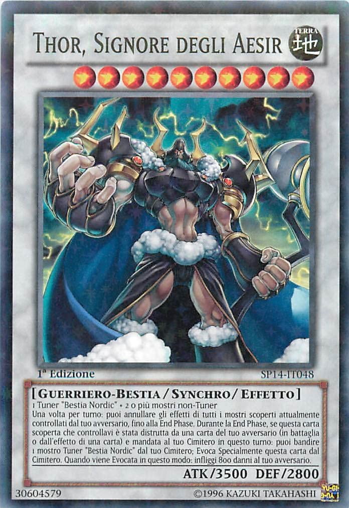 Yu-Gi-Oh! Thor Star Pack 2014-1st Edition Signore Degli Aesir SP14-IT048 Comune