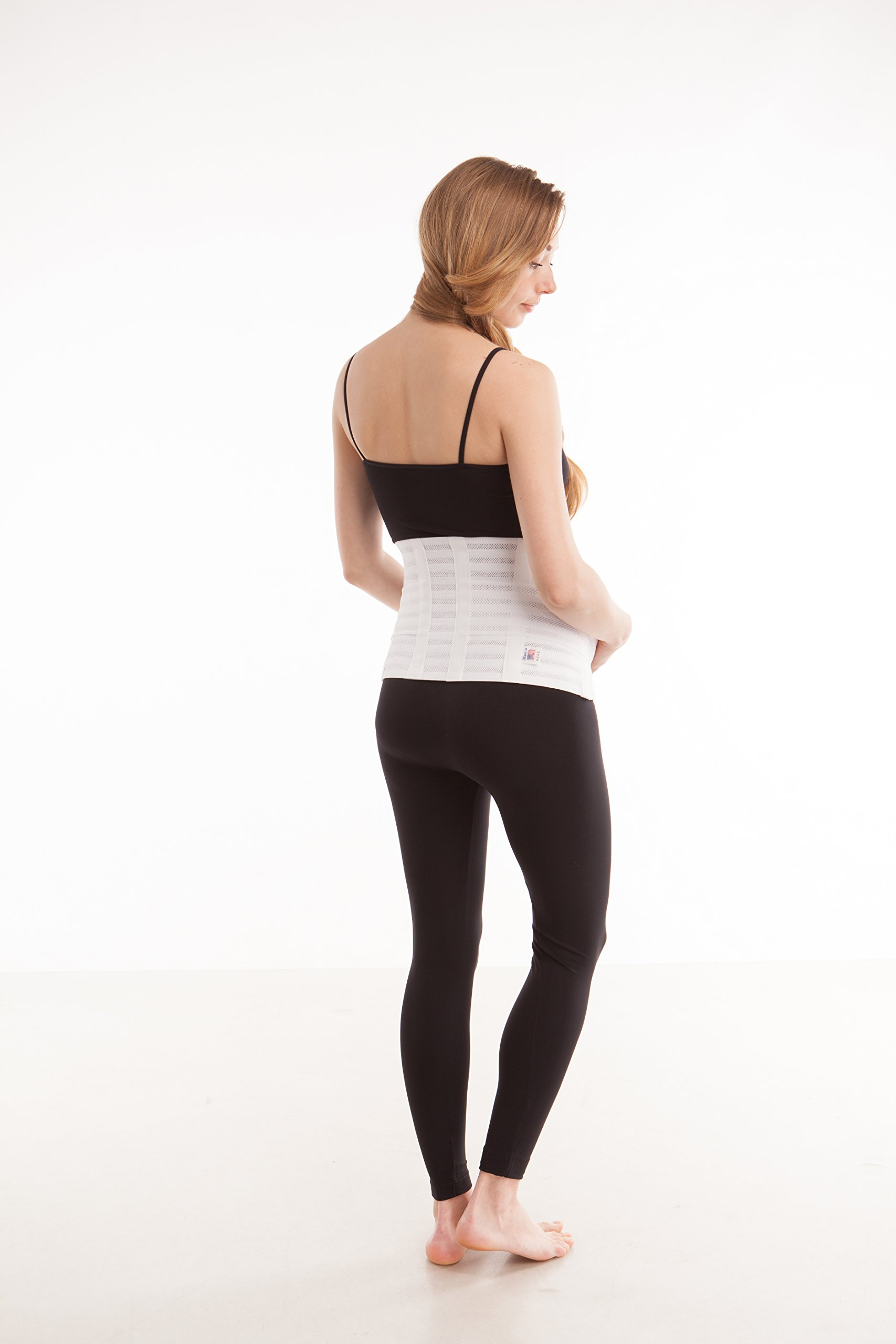 GABRIALLA Breathable Maternity/Back Support Belt For Multiples MS-99: White Medium by GABRIALLA (Image #4)