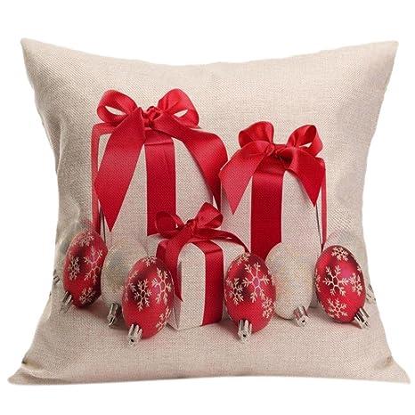 """chshe feliz Navidad fundas de almohada, """"fresas caja de regalo hiden con delicious"""