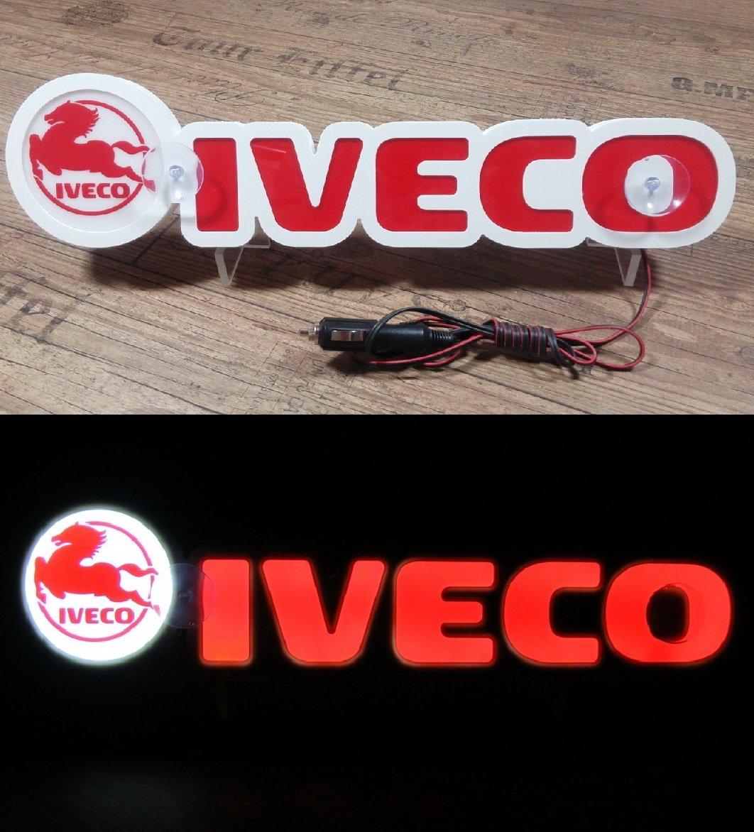 3D 24 V LED luce neon piastra trucker Truck Red logo Sign Table illuminante solo in avanti –  doesn' t addosso durante la guida Other