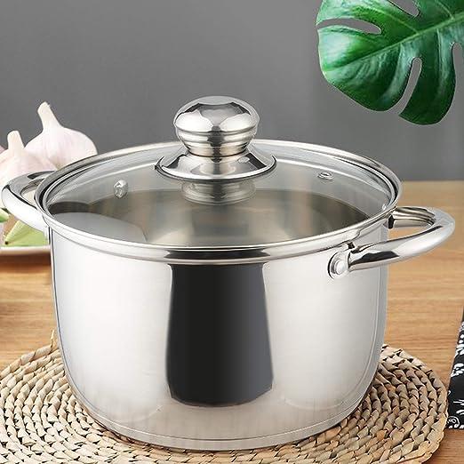 Amazon.com: KRAMPAN Olla de acero inoxidable para sopa ...