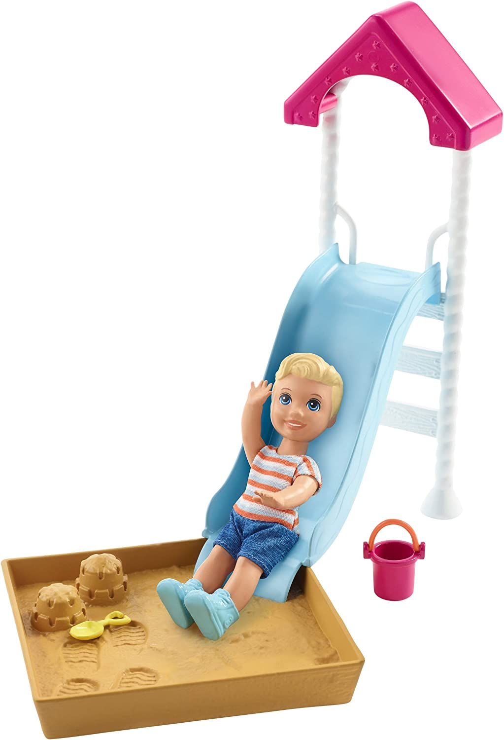 Barbie Skipper Babysitters Inc. Doll and Playset, Small Toddler Doll and Playground Piece with Slide and Sandbox, Plus Themed Accessories, Gift for 3 to 7 Year Olds​​​
