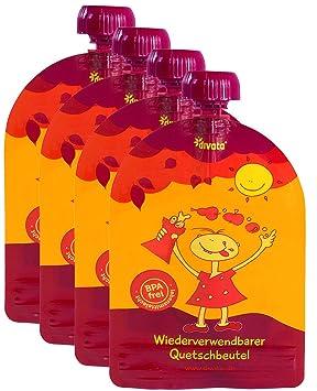 Baby Brei Joghurt Fruchtmus 150 Ml N//Z Quetschbeutel Wiederverwendbar Babytasche,8 St/ück Auslaufsicher BPA Frei Einfach Zu Bef/üllen Reinigen F/ür Babys Kinder Entw/öhnung Smoothies