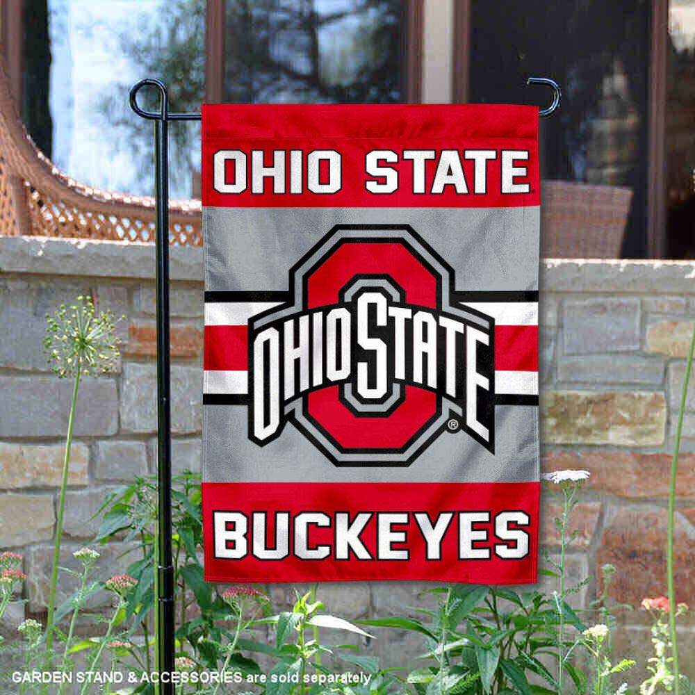 College Flags and Banners Co. Ohio State Buckeyes Garden Flag