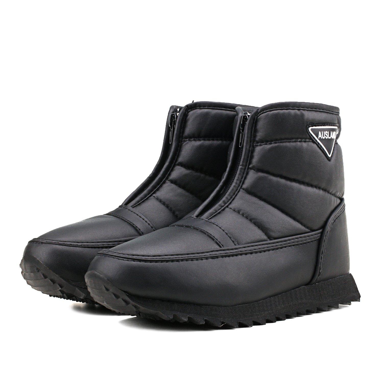 Shenda Mens Short Snow Boot Zippering Winter Boots