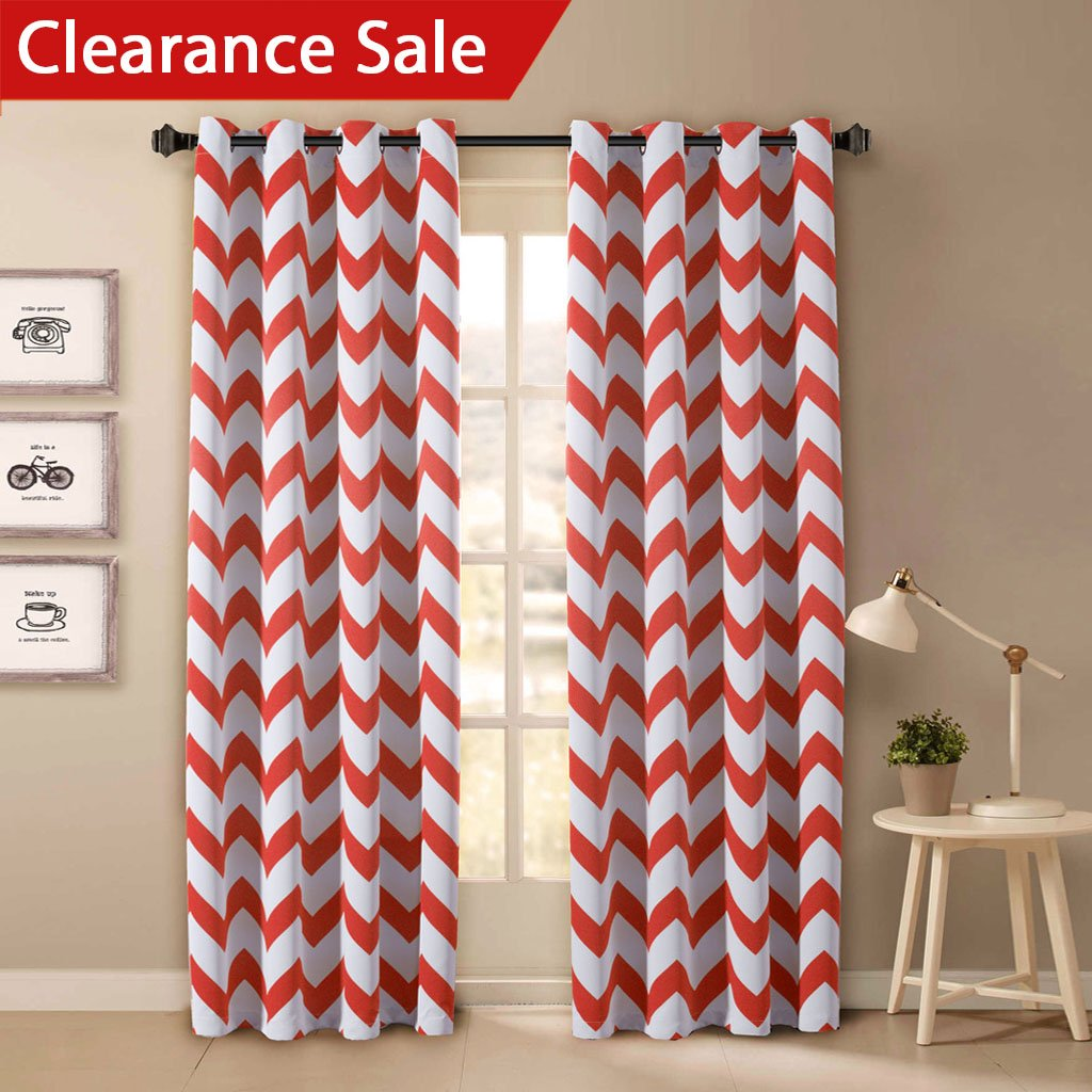 InterDesign Chevron Shower Curtain, 72 x 72-Inch, Light Gray/Coral