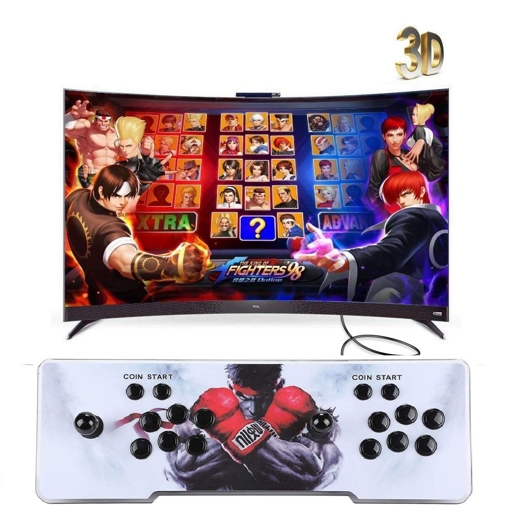 Happybuy Real Pandora's Box 6 Arcade Game Console HD Retro 3D Pandora's Key 7 Arcade Video Game 1500 in 1 Arcade Console with Arcade Joystick Support Expand Games for PC / Laptop / TV / PS4 by Happybuy (Image #1)