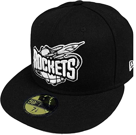best website ddf8a 55151 New Era Houston Rockets HWC NBA Black White 59fifty Fitted Cap Limited  Edition  Amazon.co.uk  Clothing