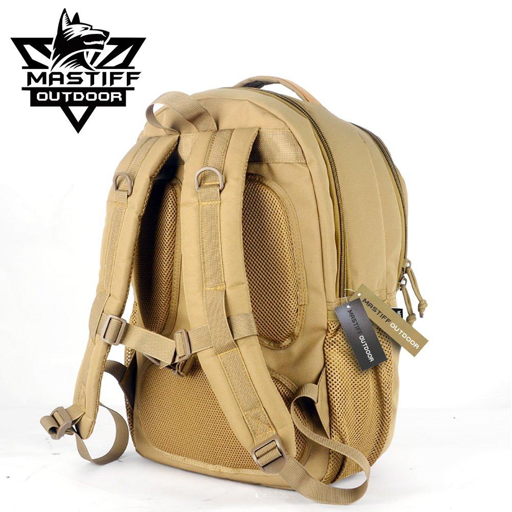 Mastiff Outdoor Tactical Travel Daypack MOLLE Casual School Bookbag Gear Bag TN by Mastiff Outdoor