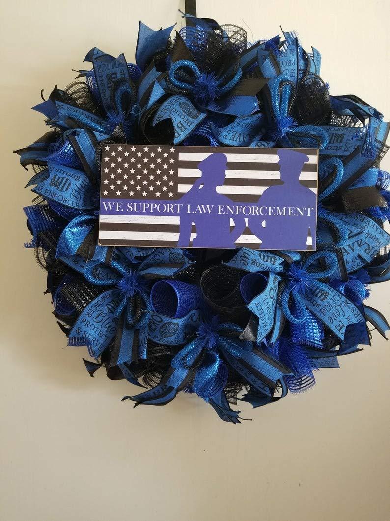 Police Support Wreath,Law enforcement wreath
