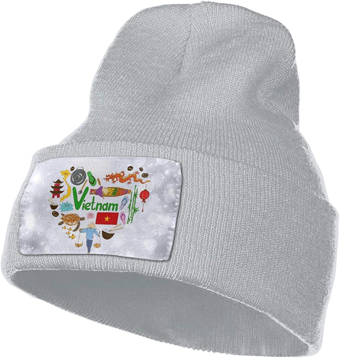 JimHappy Travel to Vietnam Hat for Men and Women Winter Warm Hats Knit Slouchy Thick Skull Cap
