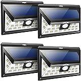 Litom ソーラーライト 人感センサー 広角 玄関入口/屋外照明/軒先/ガーデン/駐車場などに適用(4点セット)