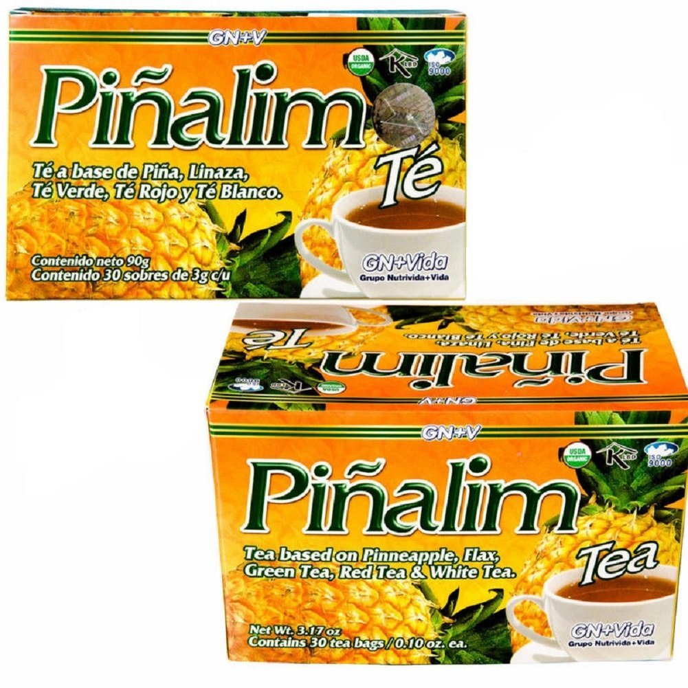2 Pack Te Pinalim Tea GN+Vida Weight Loss Tea Diet