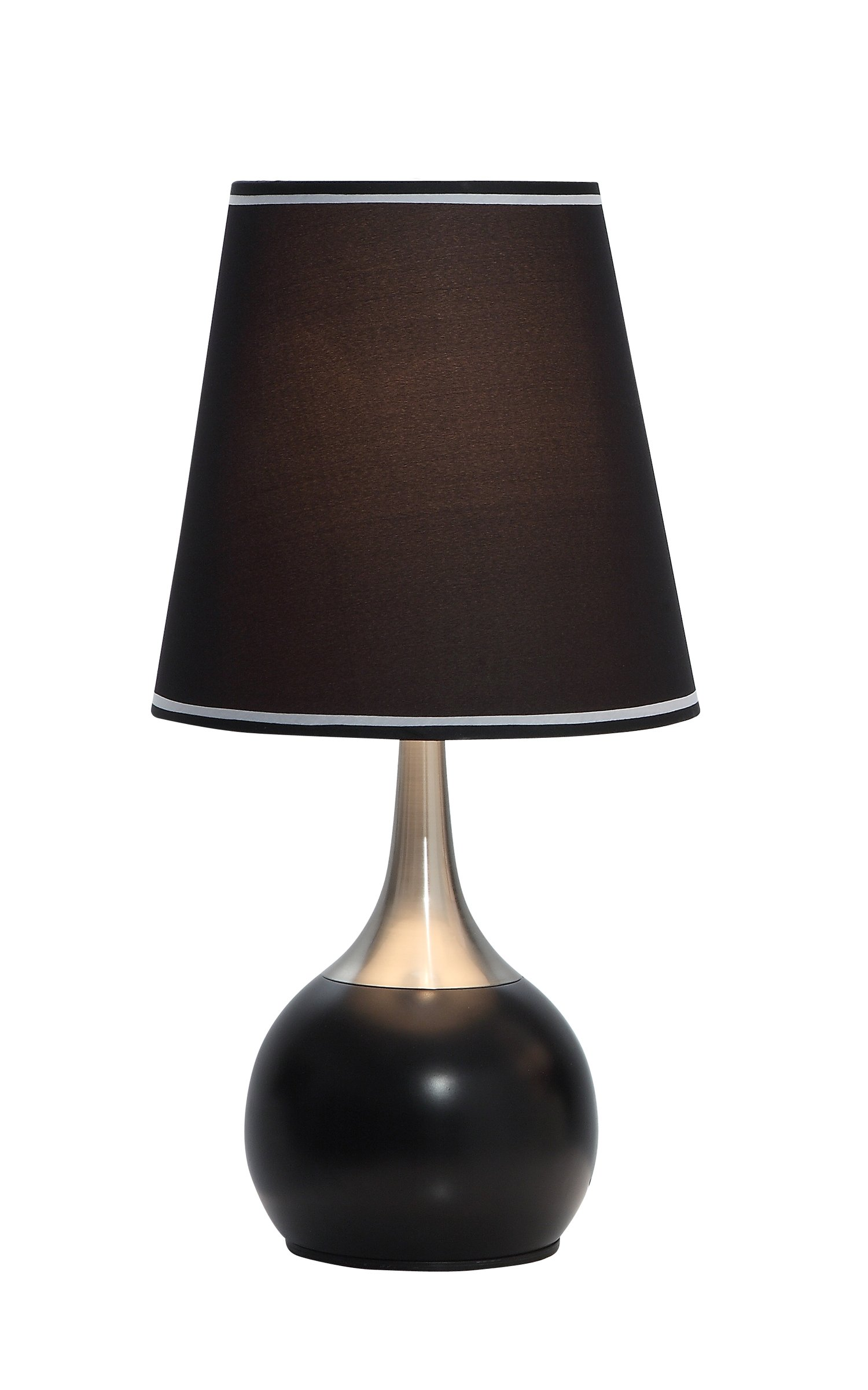 23''H CONTEMPORARY DELUXE TABLE TOUCH LAMP AVAILABLE IN BLACK. Provided by: ABC Market USA