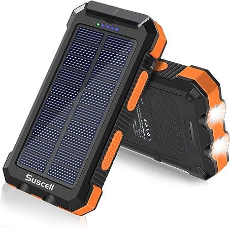 Suscell Solar Power Bank 25000 Mah Solar Charger And Elektronik