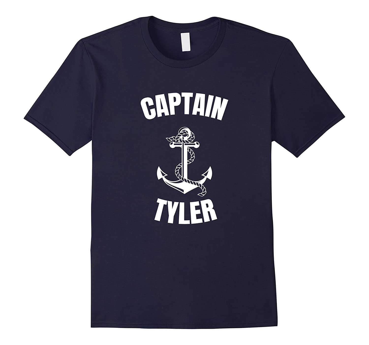 Captain Tyler T-Shirt Personalized Boat Captain Shirt-FL