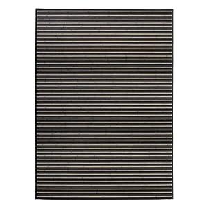 Alfombra de salón Moderna Negra de bambú de 180 x 250 cm Factory - LOLAhome