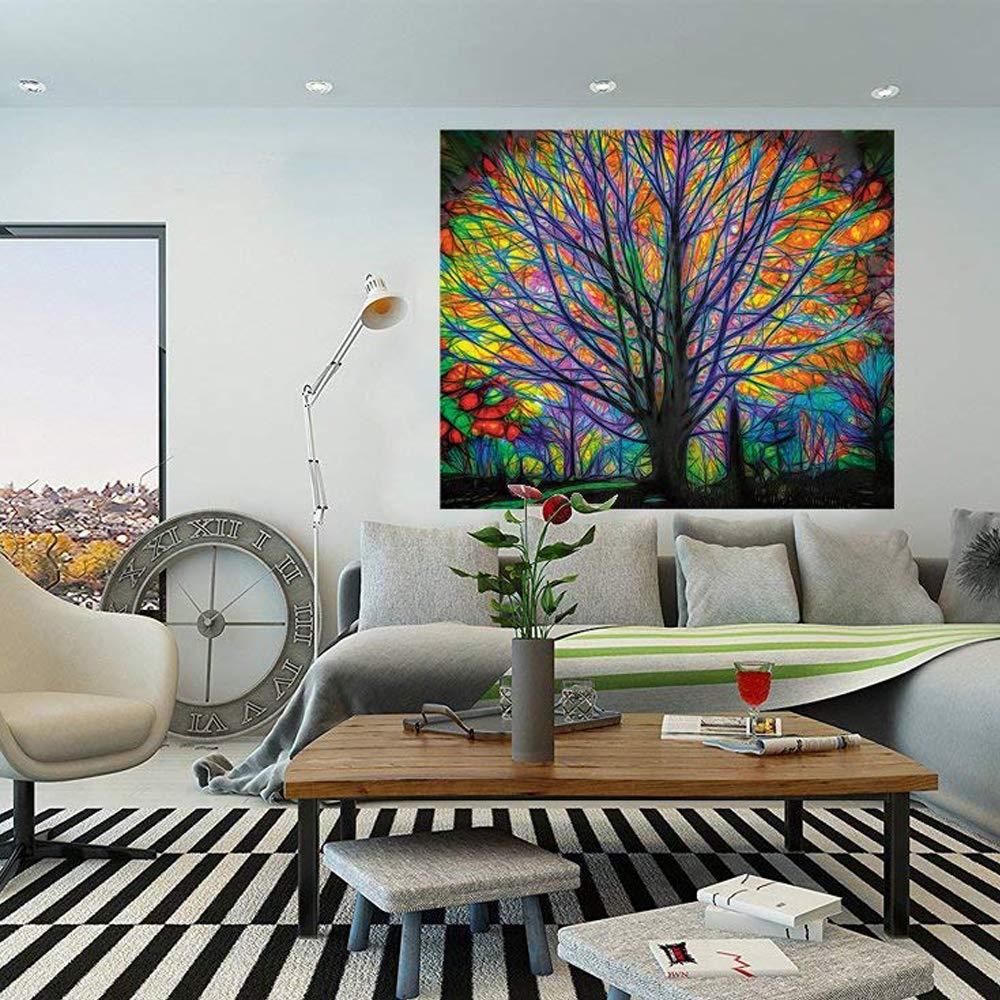 MS.DEAR Elefante Tapiz tapices Colgantes decoraci/ón de la Pared Elefante Indio psicod/élico Mandala Hippie Bohemio Cortina Colgante de la Pared tama/ño 150x130cm