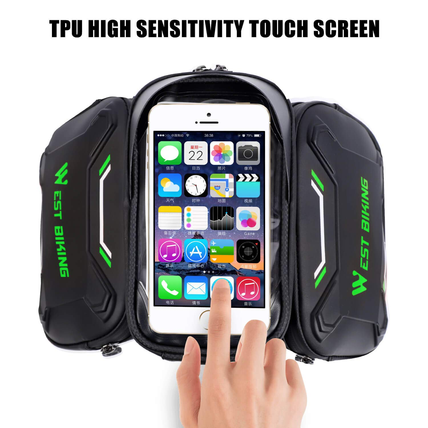 Bicycle Phone Mount LuTuo Bike Frame Bag Waterproof Cycling Front Top Tube ...