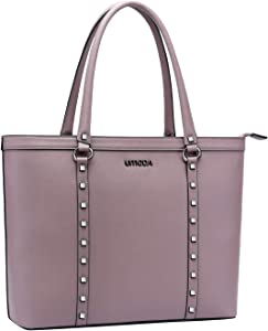 Laptop Bag for Women,13-15.6 Inch Laptop Tote Bag for Women,Professional Work Briefcase for Women(Purple)