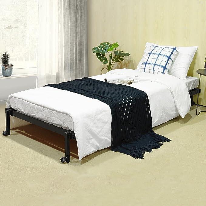 Individual Plegable marco de metal cama, eggree (TM) plegable de ...