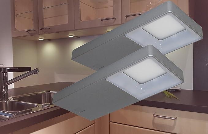 Set di lampade da incasso a led bianco freddo mod