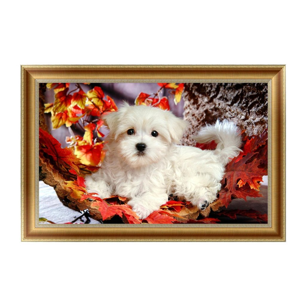 Shoresu 5D DIY Diamond Painting, Dog 5D DIY Painting Painting By Numbers Diamonds Embroidery Painting Cross Stitch Kit DIY Home Decor 44×28cm