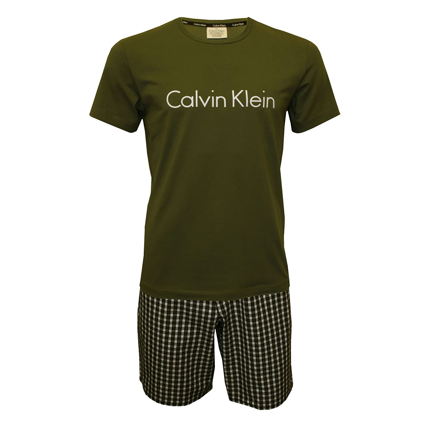 Calvin Klein Conjuntos de Pijama para Hombre, (Hunter Top/Ross Check Hunte), X-Large: Amazon.es: Ropa y accesorios