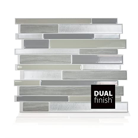 Smart Tiles Milano Grigio Dual Finish 3D Gel-Otm Piastrelle Adesive ...