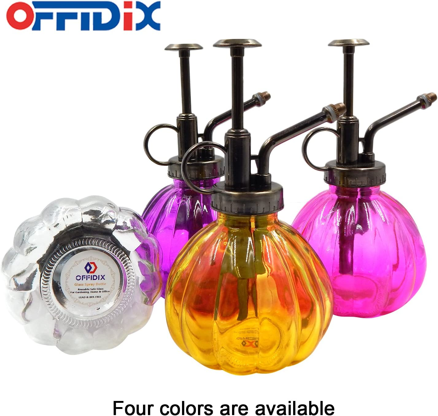 Transparent Glass Watering Spray Bottle