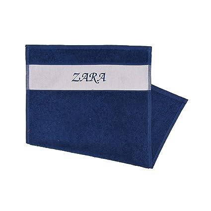 Toalla Impreso con nombres Zara Azul