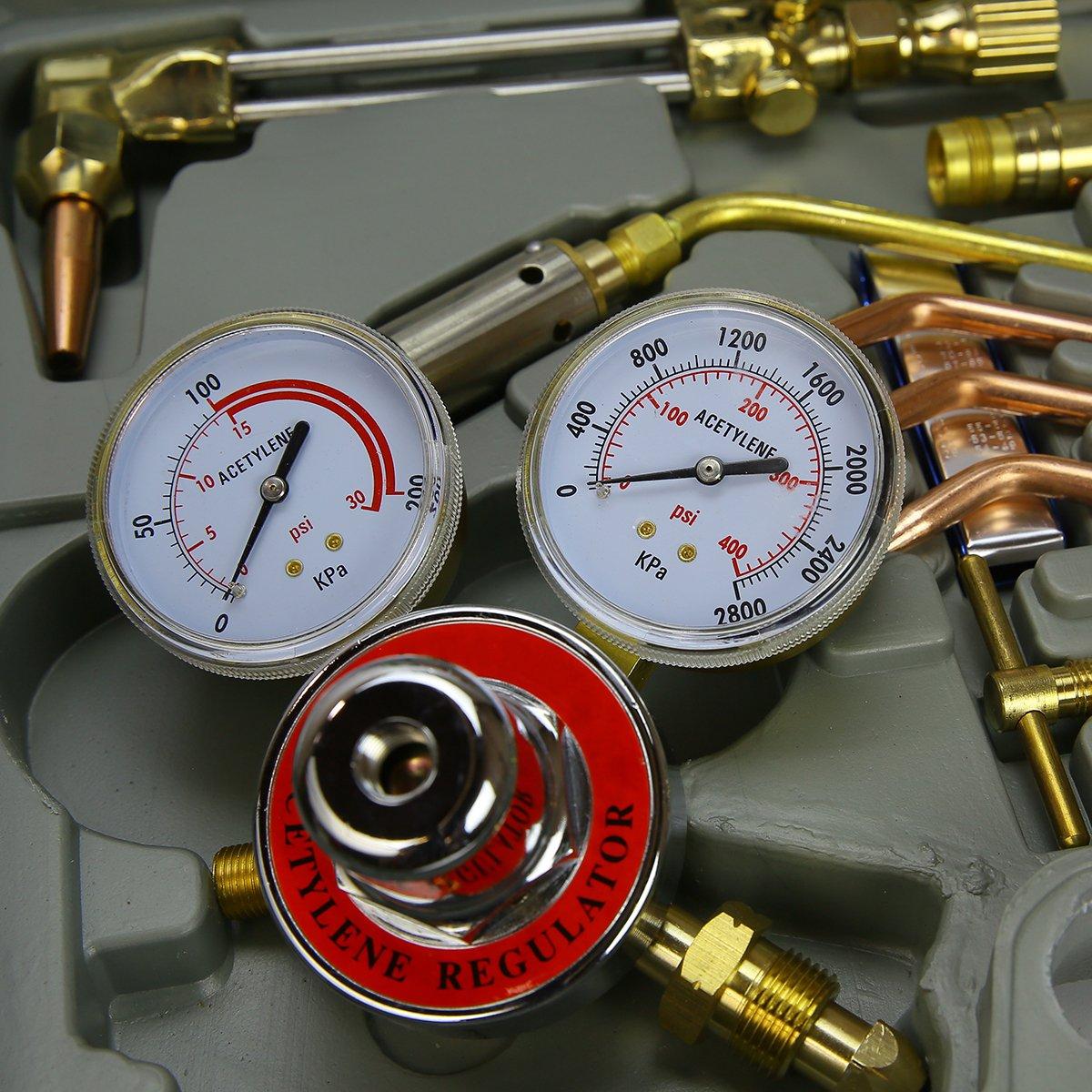XtremepowerUS''Harris'' Type Oxy Acetylene Welding Cutting Torch Kit by XtremepowerUS (Image #2)