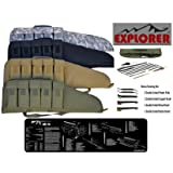 TACTICAL .223/5.56MM HEAVY DUTY RIFLE CASE WITH TACTICAL TEK MAT EXPLODED VIEW CLEANING MAT AND 15 PC CLEANING KIT (ACU)