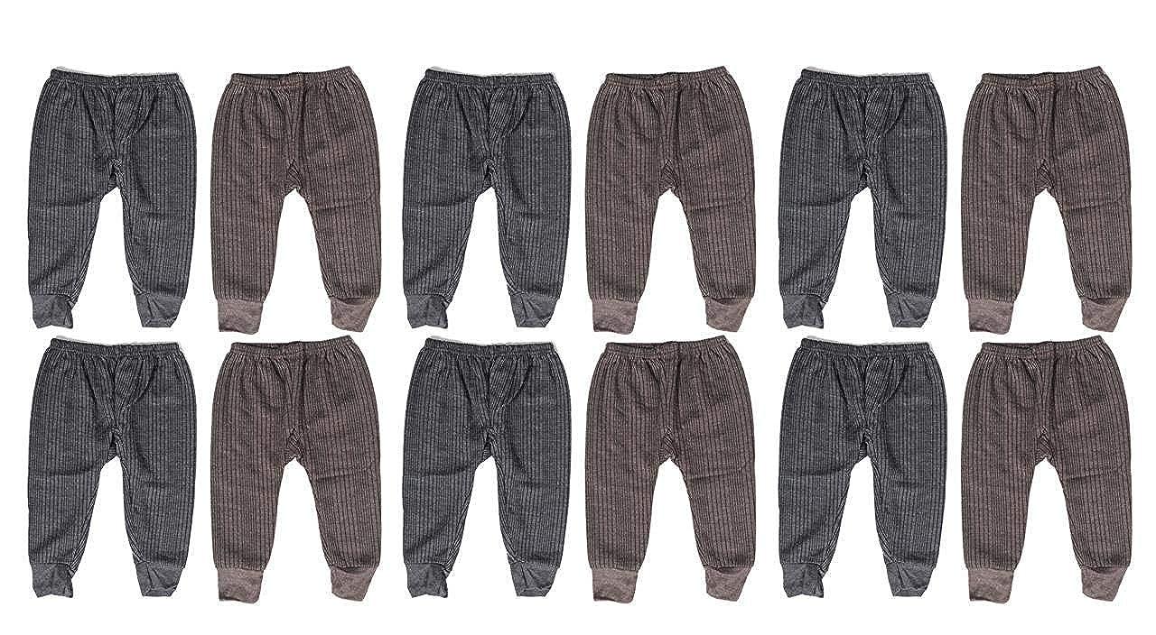Krystle Boy's Woollen Thermal Pyjamas - Pack of 12