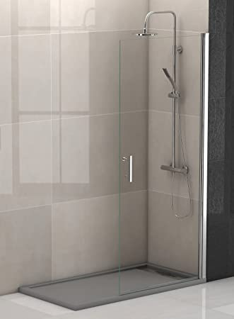 Mampara ducha hoja abatible cromo-vidrio BERLIN 90, alto 195 cm ...