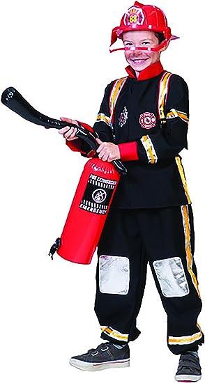chamboolee - Disfraz de bombero con protección piernas para niños ...