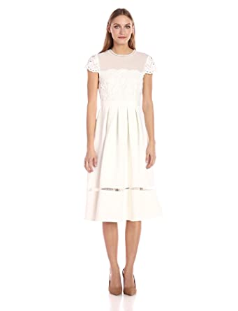 058b16251bc9 Amazon.com  Ted Baker Women s Frizay Lace Bodice Full Midi Dress ...