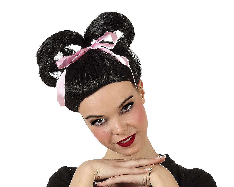 CREATIVE Peluca de pelo Geisha Chica Negro: Amazon.es: Juguetes y juegos