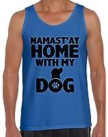 Awkward Styles Men's Namast`ay Home With My Dog Pet Lover`s Tank Tops