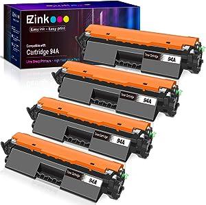 E-Z Ink (TM) Compatible Toner Cartridge Replacement for HP 94A CF294A to use with Laserjet M118dw, M148dw, M148fdw, M118, M148 Printer (Black, 4 Pack)