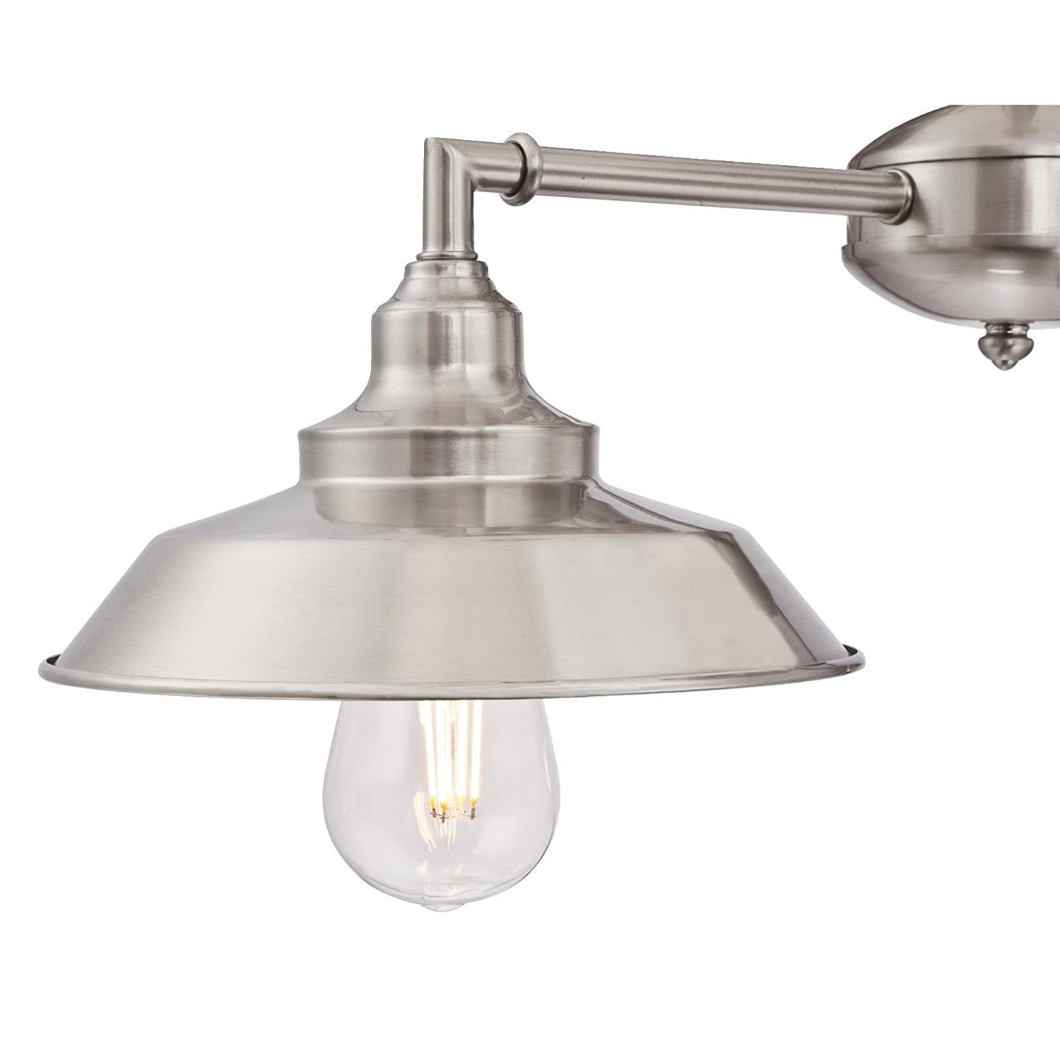 Oil Rubbed Finish with Highlights and Metallic Bronze Interior 3 Westinghouse Lighting 6332500 Iron Hill Three-Light Indoor Island Pulley Pendant