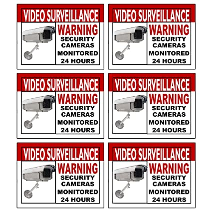Best quality home security sign and business camera video surveillance sticker for indoor outdoor use