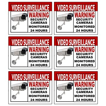 Amazoncom Best Quality Home Security Sign And Business Camera - Window alert decals amazon